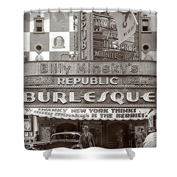Minsky's Burlesque Theater New York Shower Curtain