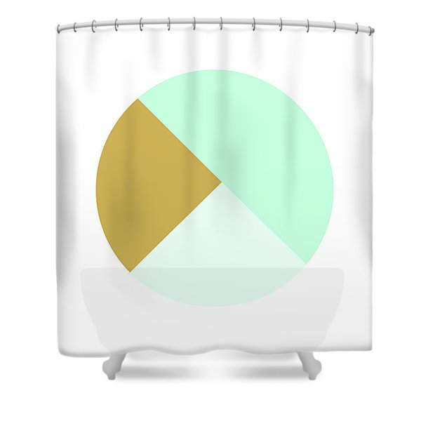 Mint And Gold Ball- By Linda Woods Shower Curtain