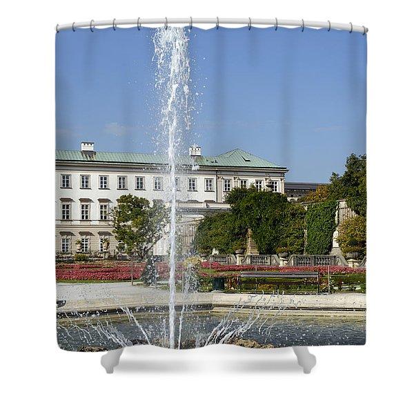 Magical Mirabell Gardens Shower Curtain