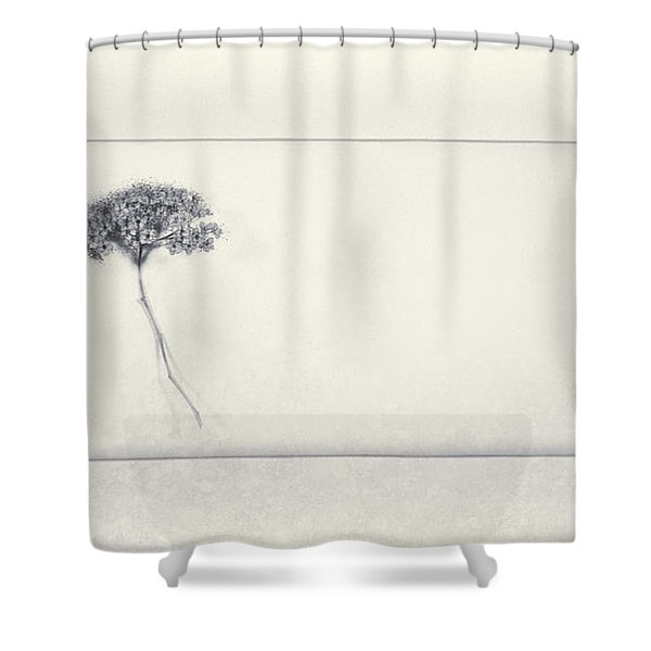 Miracle Of A Single Flower Shower Curtain