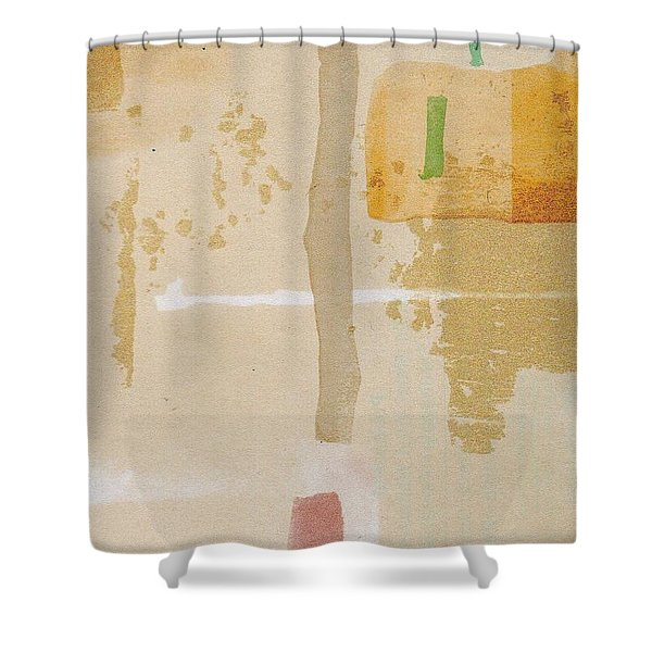 Shower Curtain featuring the mixed media Mirage by Writermore Arts