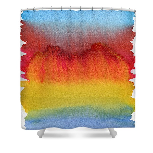 Shower Curtain featuring the painting Miraggio by Bee-Bee Deigner