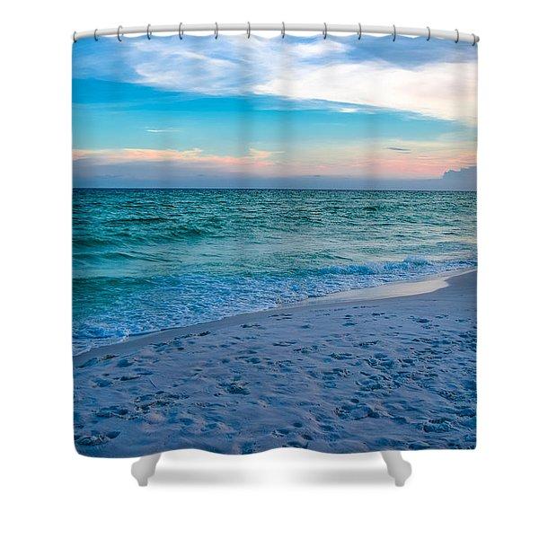 Miramar Blue  Shower Curtain