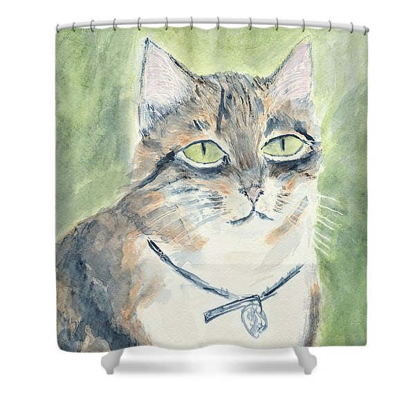 Shower Curtain featuring the painting Miranda by Kathryn Riley Parker