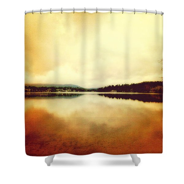 Mirror Lake At Sunset Shower Curtain