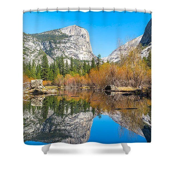 Mirror Lake Yosemite Np Shower Curtain