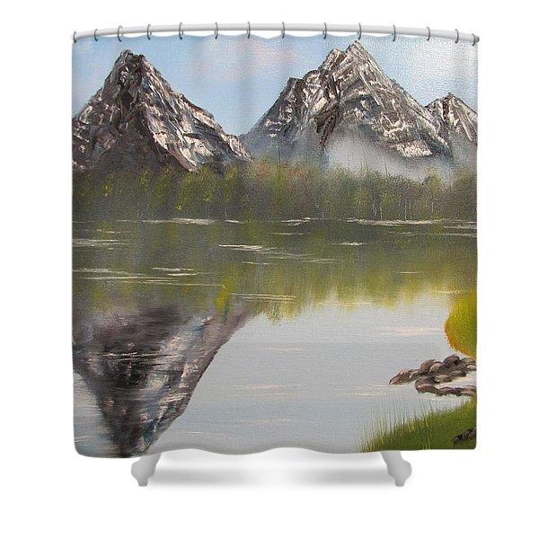 Mirror Mountain Shower Curtain