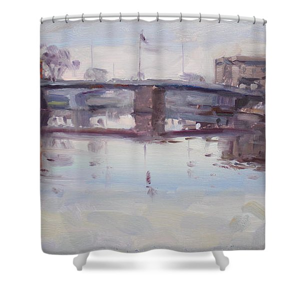 Mirror Reflection Of Gateway Harbor Shower Curtain
