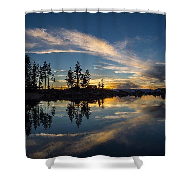 Mirror Sunset Shower Curtain