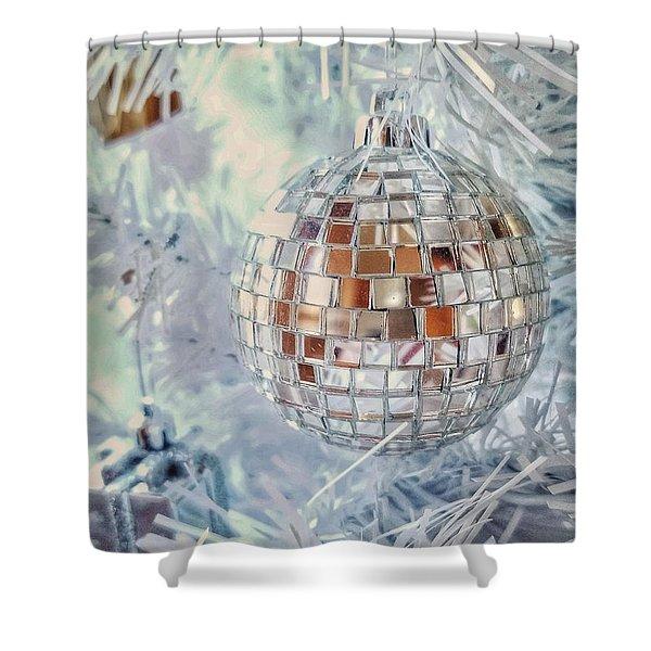 Mirror Tree Ornament Shower Curtain