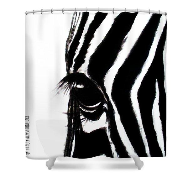 Miss Zebbie Shower Curtain
