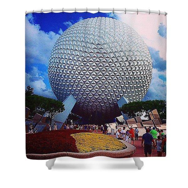Spaceship Earth  Shower Curtain