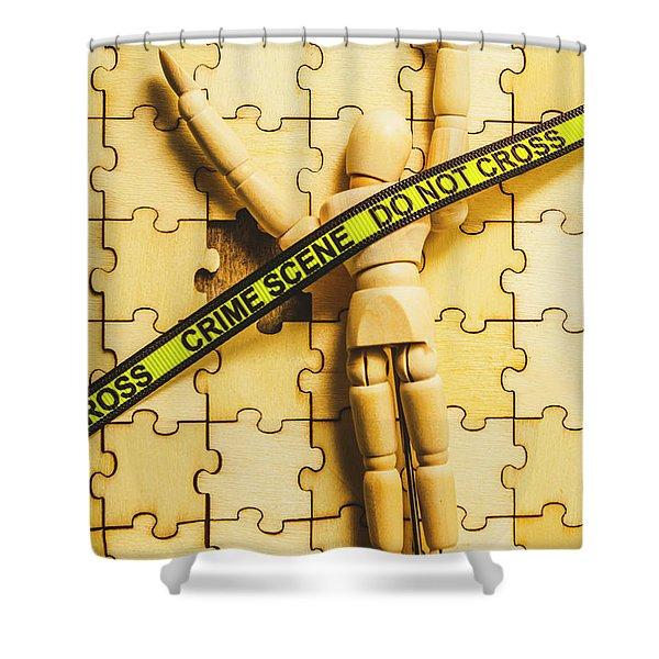 Missing Piece Of The Puzzle Shower Curtain