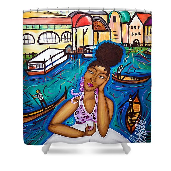Missing Venice Shower Curtain