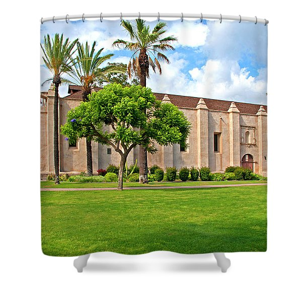Mission San Gabriel Arcangel, San Gabriel, California Shower Curtain