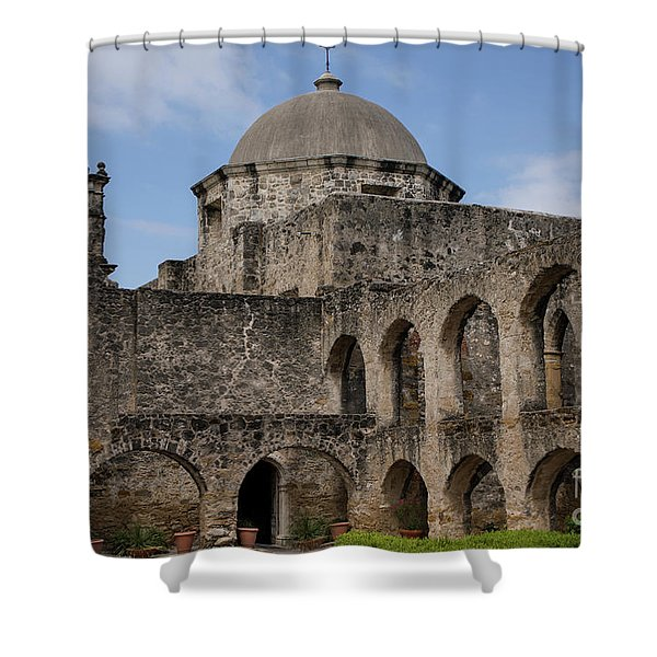 Mission San Jose - 1218 Shower Curtain
