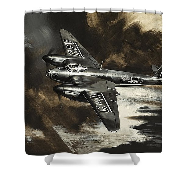 Mission To Danger Shower Curtain