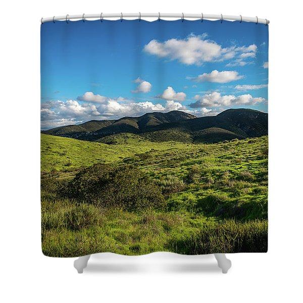 Mission Trails Grasslands Shower Curtain