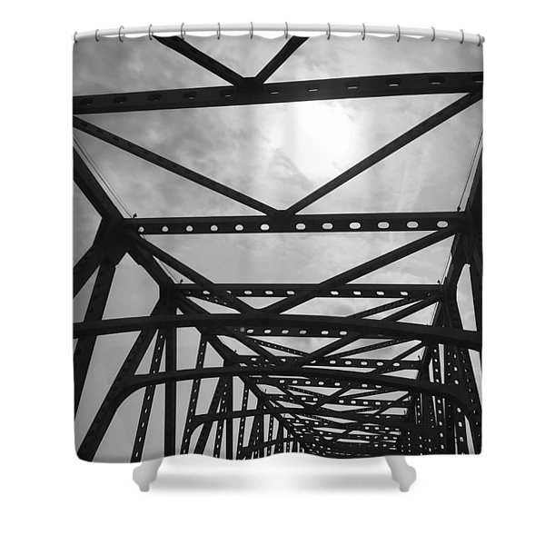 Mississippi River Bridge Shower Curtain