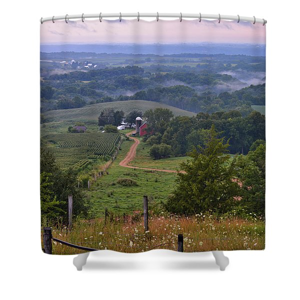 Mississippi River Valley 2 Shower Curtain