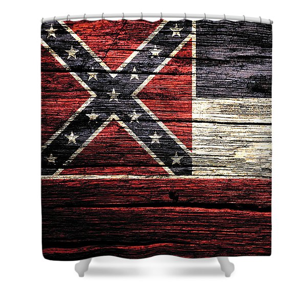 Mississippi State Flag 3w Shower Curtain