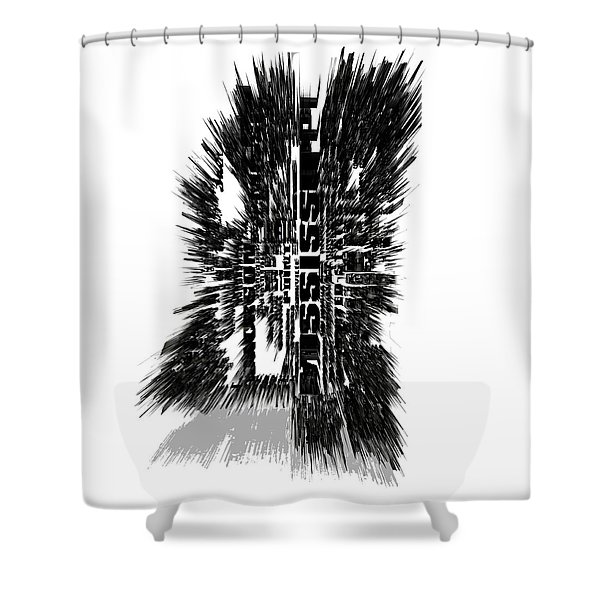 Mississippi Typographic Map 4c Shower Curtain