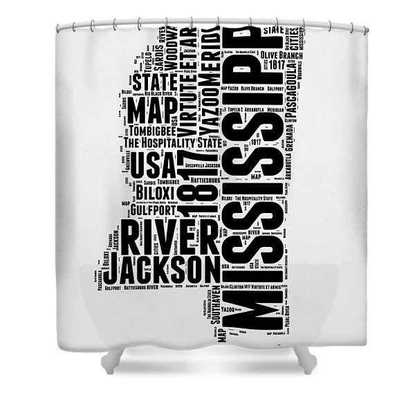 Mississippi Word Cloud 2 Shower Curtain