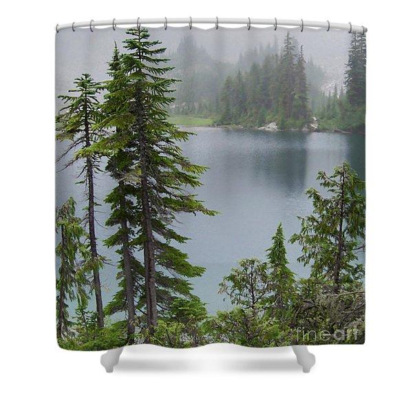 Mist At Snow Lake Shower Curtain