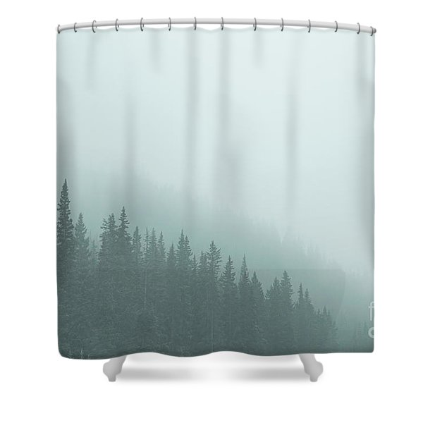 Mist On The Morning Hills Shower Curtain
