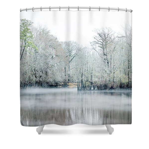 Mist On The River Shower Curtain