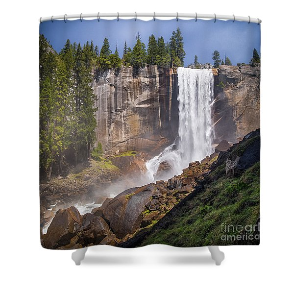 Mist Trail And Vernal Falls Shower Curtain