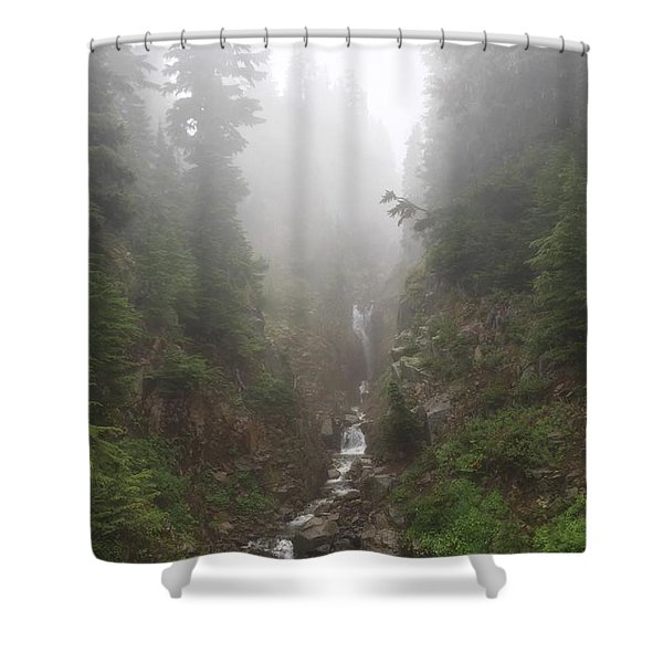 Misted Waterfall Shower Curtain