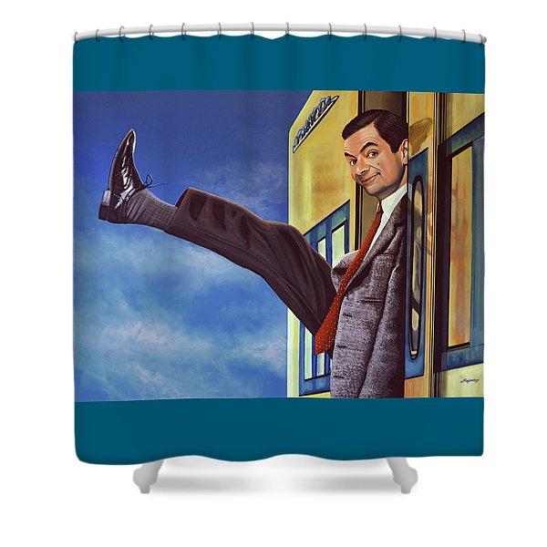 Mister Bean Shower Curtain