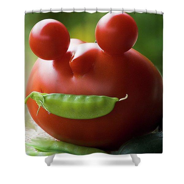 Mister Tomato Shower Curtain