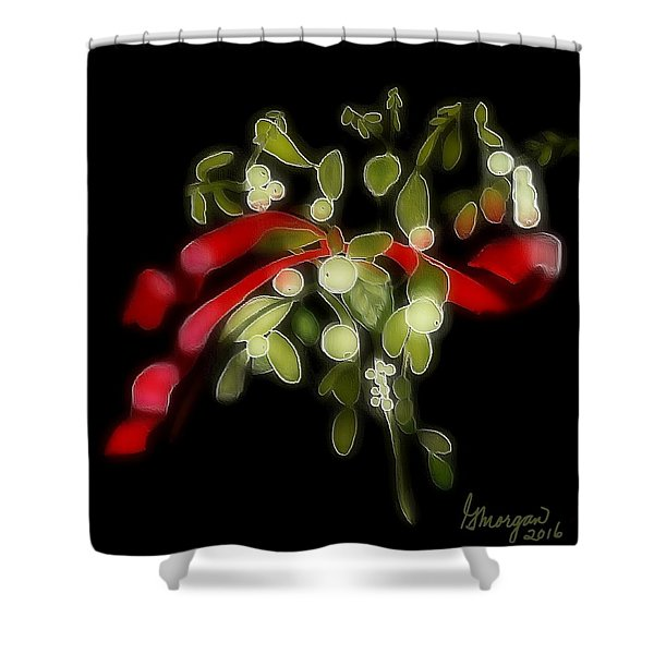 Mistletoe  Shower Curtain