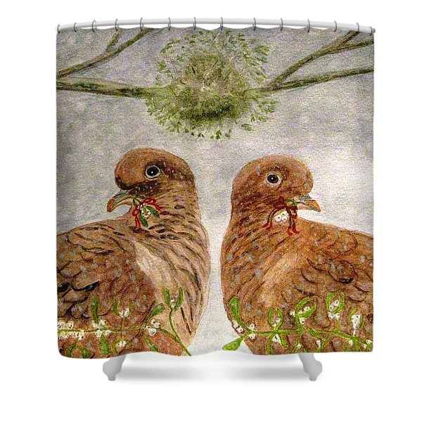 Mistletoe Magic Shower Curtain