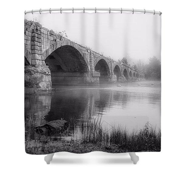 Misty Bridge Shower Curtain