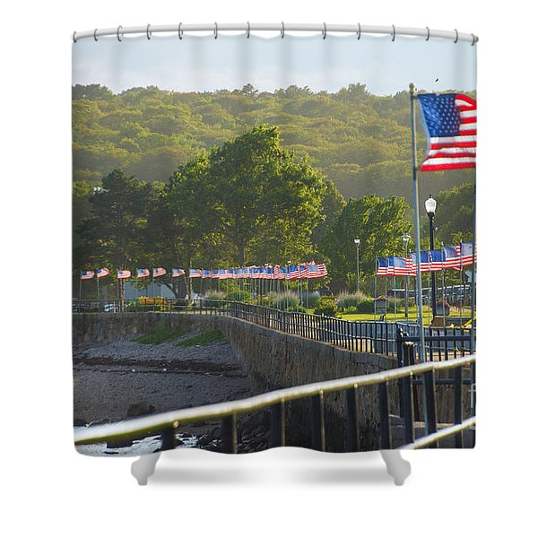 Misty Flags Shower Curtain