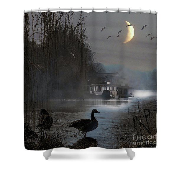 Misty Moonlight Shower Curtain