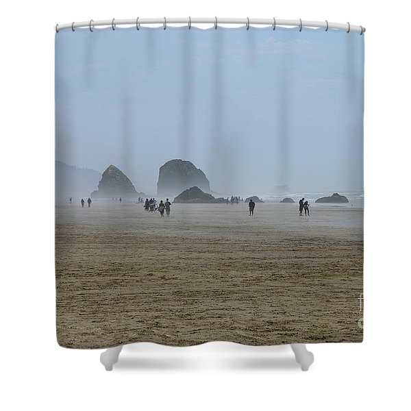 Misty Morning At Cannon Beach Shower Curtain