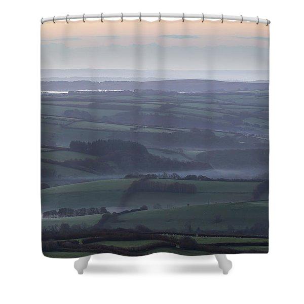 Misty Morning On Exmoor  Shower Curtain