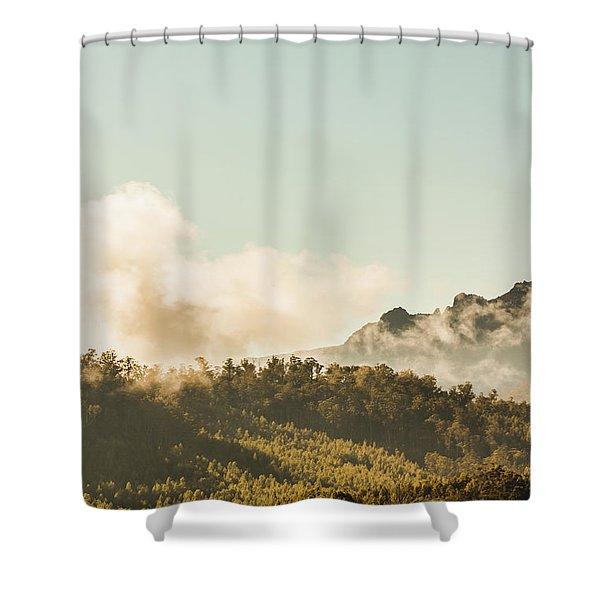 Misty Mountain Peaks Shower Curtain