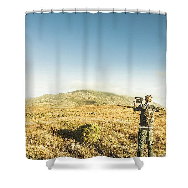 Misty Mountain Travels Shower Curtain