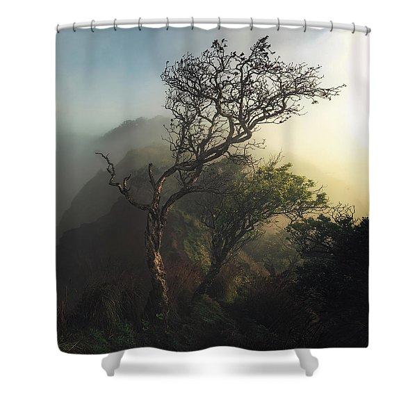 Misty Na Pali Shower Curtain