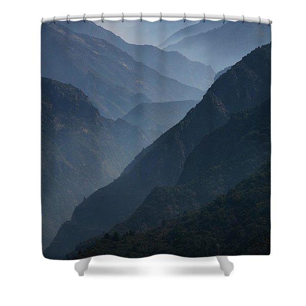 Misty Peaks Shower Curtain