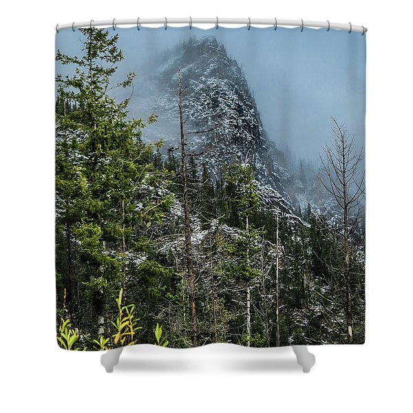 Misty Pinnacle Shower Curtain