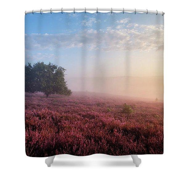 Misty Posbank Shower Curtain