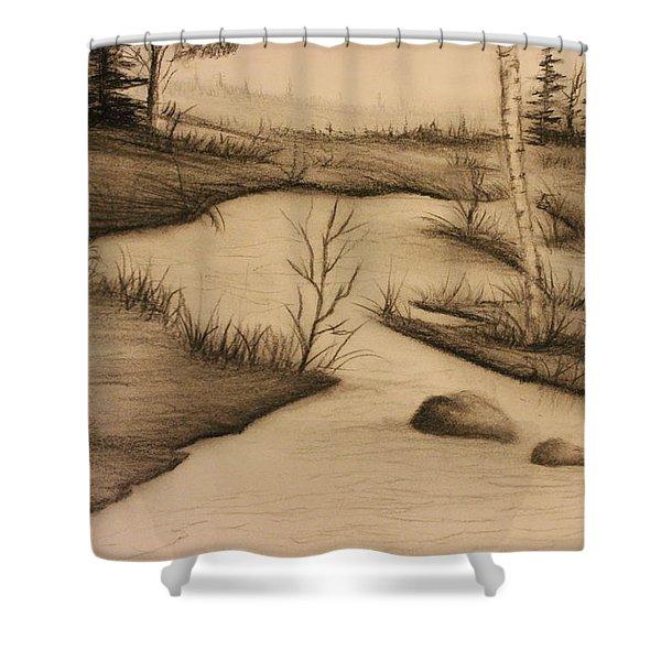 Misty River Shower Curtain