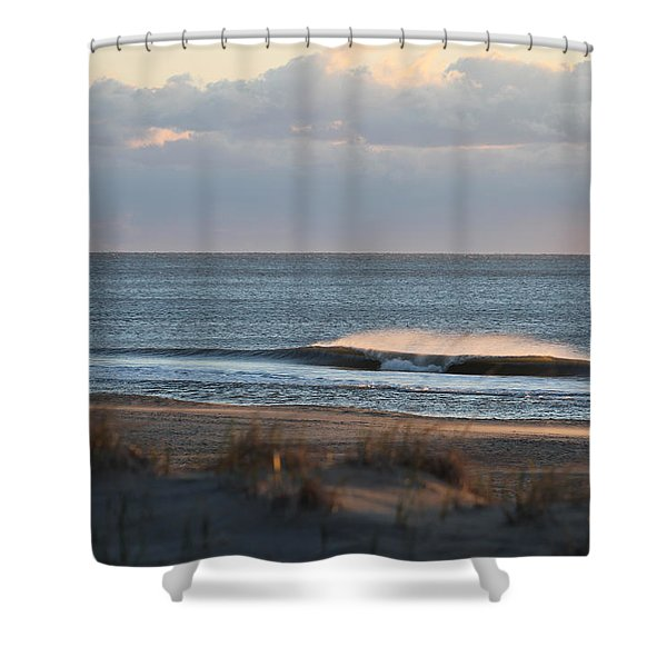Misty Waves Shower Curtain