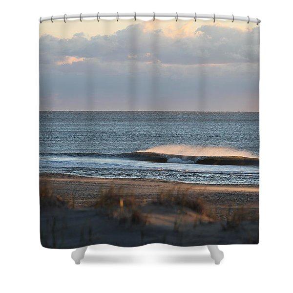 Misty Waves Shower Curtain